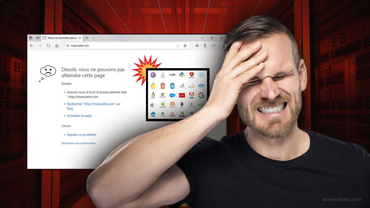 Une mauvaise stratégie de sauvegarde de vos solutions web peut détruire votre société - problèmes et solutions - tines.fr